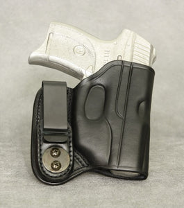 Ruger LC9 (LaserMax) IWB Leather Holster - Black
