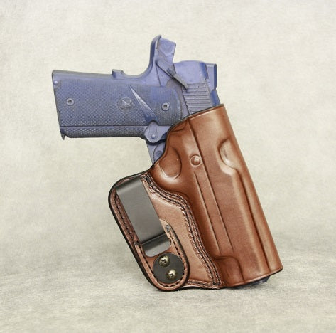 1911 Full Size (with rail) IWB Leather Gun Holster - Brown