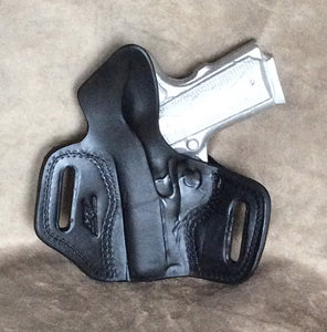 "1911 3"" TWO SLOT PANCAKE (TSP) Leather Holster-IN STOCK NOW"