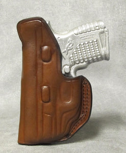 Springfield XDs Center Clip IWB Leather Holster - Brown