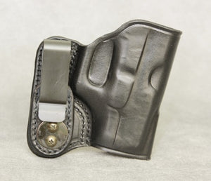 Glock 27 IWB Leather Holster - Black