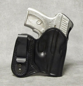Ruger LC9 IWB w/ Sweat Shield Leather Holster - Black