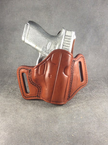 Glock 19 /23/32 OWB Custom Leather Pancake Holster by ETW Holsters