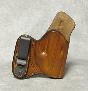 Ruger LC9 (LaserMax) IWB w/ Sweat Shield Leather Holster - Brown