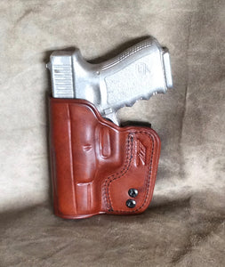 Glock 27 IWB Concealed Tuckable Custom Leather Holster by ETW Holsters