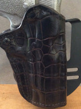 1911 OWB Commander Gator Custom Leather Paddle Holster