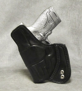 Smith & Wesson M&P Shield (Crimson Trace) Mr Jones Reinforced IWB Leather Holster - Black