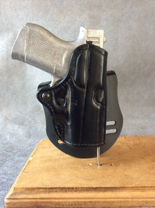 Glock 43 OWB Custom Leather Paddle Holster
