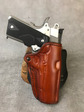 1911 OWB Commander Custom Leather Paddle Holster