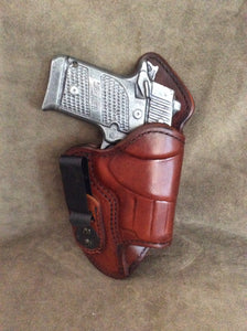 Sig Sauer P938 (Crimson Trace) Mr Jones lined IWB Leather Holster - Brown