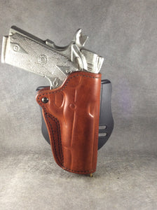 "1911 OWB Officer's Model 3"" Custom Leather Paddle Holster by ETW Holsters"
