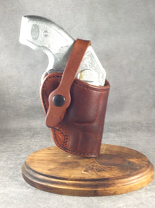 "Kimber K6s 4"" OWB Two Position Custom Leather Holster/Crossdraw"