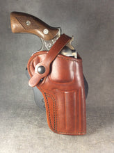 Ruger GP100 OWB Custom Leather Paddle Holster