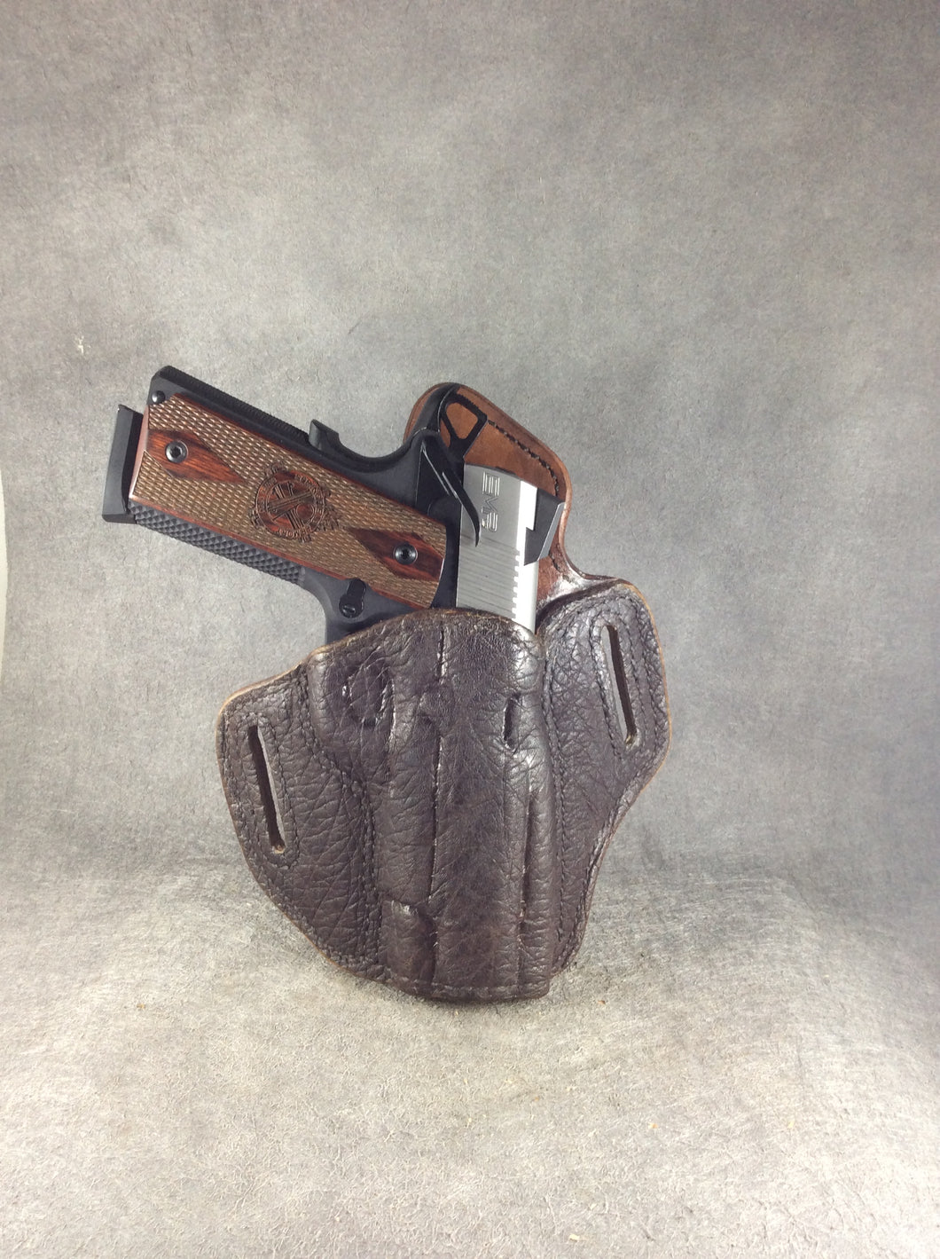 1911 Full Size OWB Custom Pancake Holster Elephant and Leather