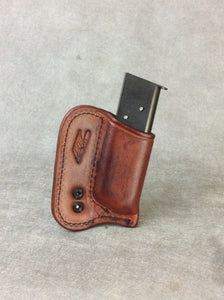 9mm IWB Concealed Leather Single Magazine Holder