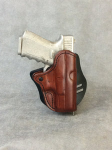 Glock 17/19/22 OWB Custom Leather Paddle Holster by ETW Holsters