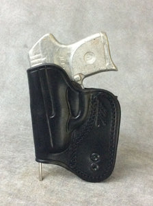 Ruger LCP II IWB Concealed Tuckable Custom Leather Holster