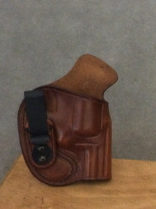 Smith & Wesson 686 IWB (Inside the Waistband) Concealed Tuckable Leather Holster