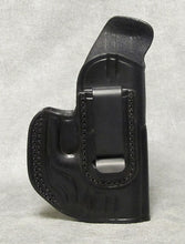 Springfield XDs Center Clip IWB Leather Holster - Black