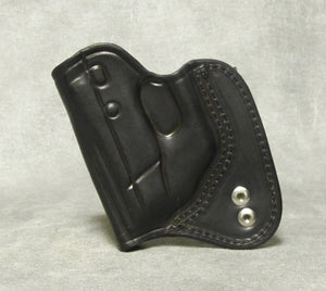 Taurus TCP (with Crimson Trace) IWB Leather Holster - Black