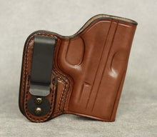 Springfield XDs (Crimson Trace) IWB Leather Holster - Brown