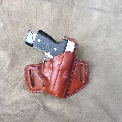KAHR PM40 Two Slot Pancake (TSP) Leather Holster