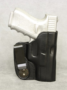 Glock 23 IWB Leather Holster - Black