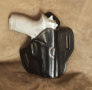 Sig P227 Two Slot Pancake Leather Holster