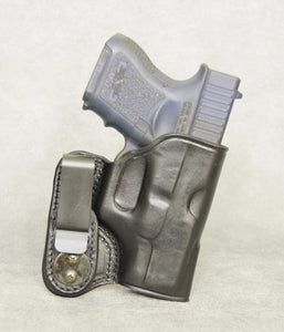 Glock 33 IWB Leather Holster - Black