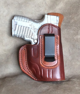 Springfield XD-S IWB Center Clip w/Crimson Trace Leather Holster