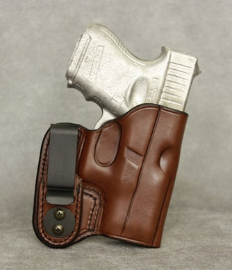 Glock 26 (with Crimson Trace) IWB Leather Holster - Brown