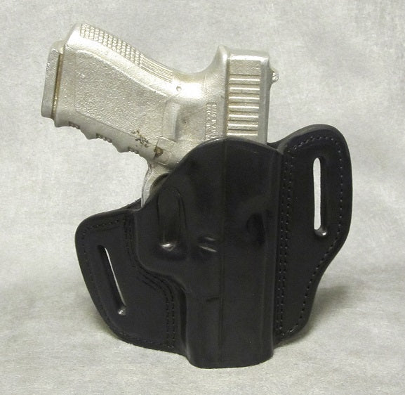 Glock 23 Leather Pancake Holster - Black