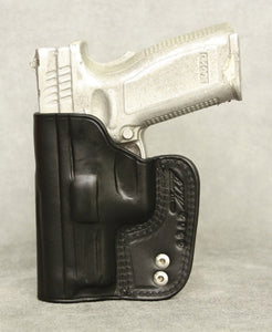 Springfield XD(M) 4.5 IWB Leather Holster - Black