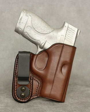 Smith & Wesson M&P Shield IWB Leather Holster - Brown