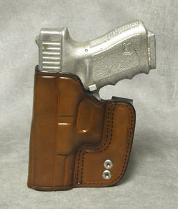 Glock 32 IWB Leather Holster - Brown