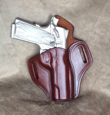1911 Full Size Leather TWO SLOT PANCAKE- IN STOCK NOW