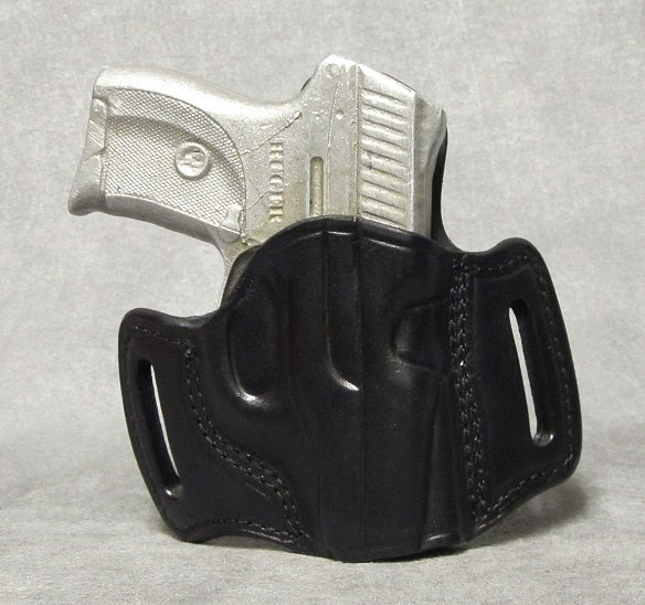 Ruger LC9 (LaserMax) Leather Pancake Holster - Black