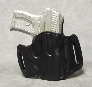 Ruger LC9 (Crimson Trace) Leather Pancake Holster - Black