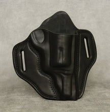 "Smith & Wesson Governor (3"" cylinder) Leather Pancake Holster - Black"