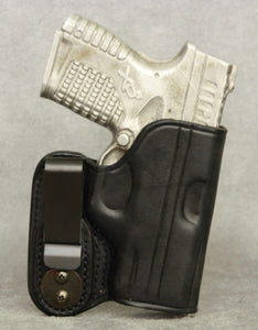 Springfield XDs IWB Leather Holster - Black