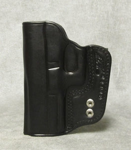 Glock 21SF IWB Leather Holster - Black