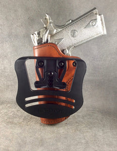 1911 OWB Commander Custom Leather Paddle Holster by ETW Holsters