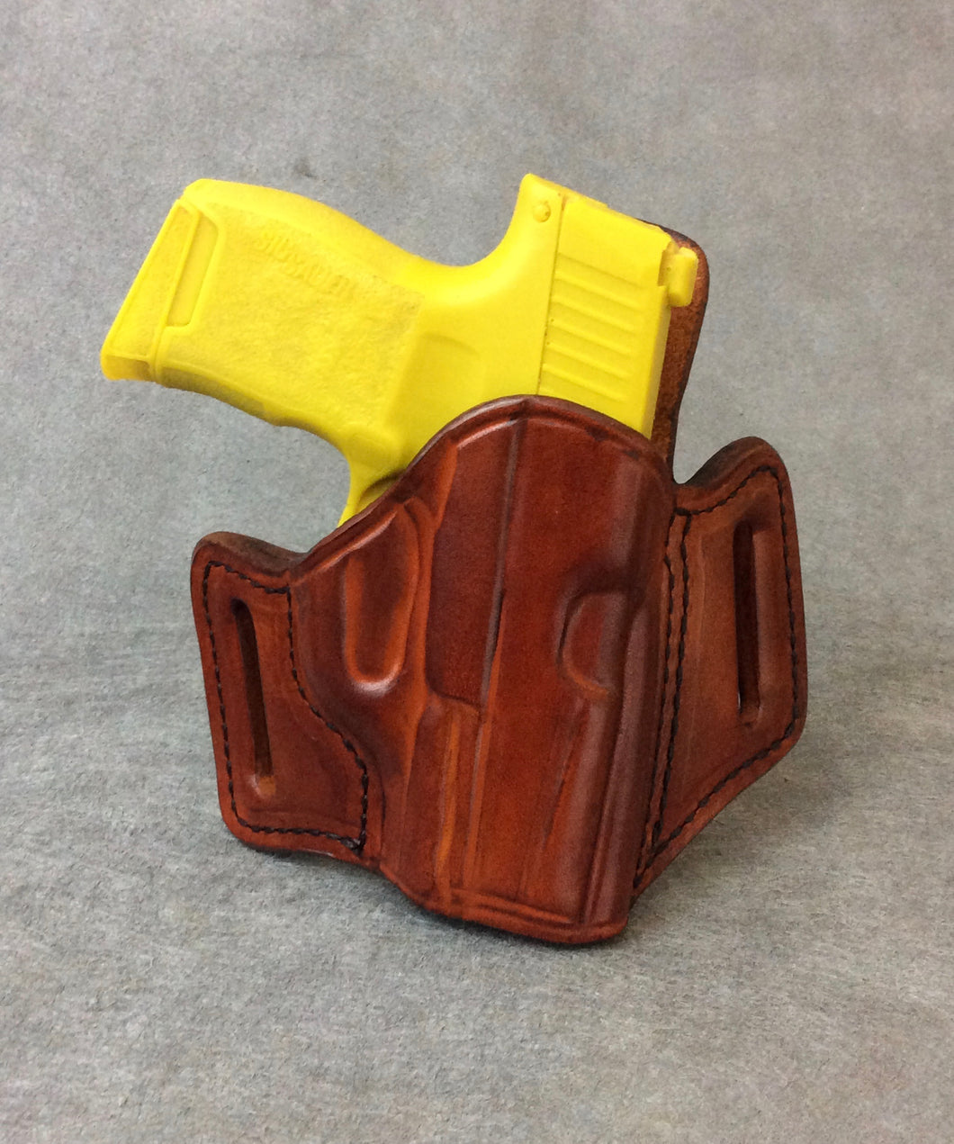 Ruger American Compact 9mm OWB Two Slot Pancake Leather Holster