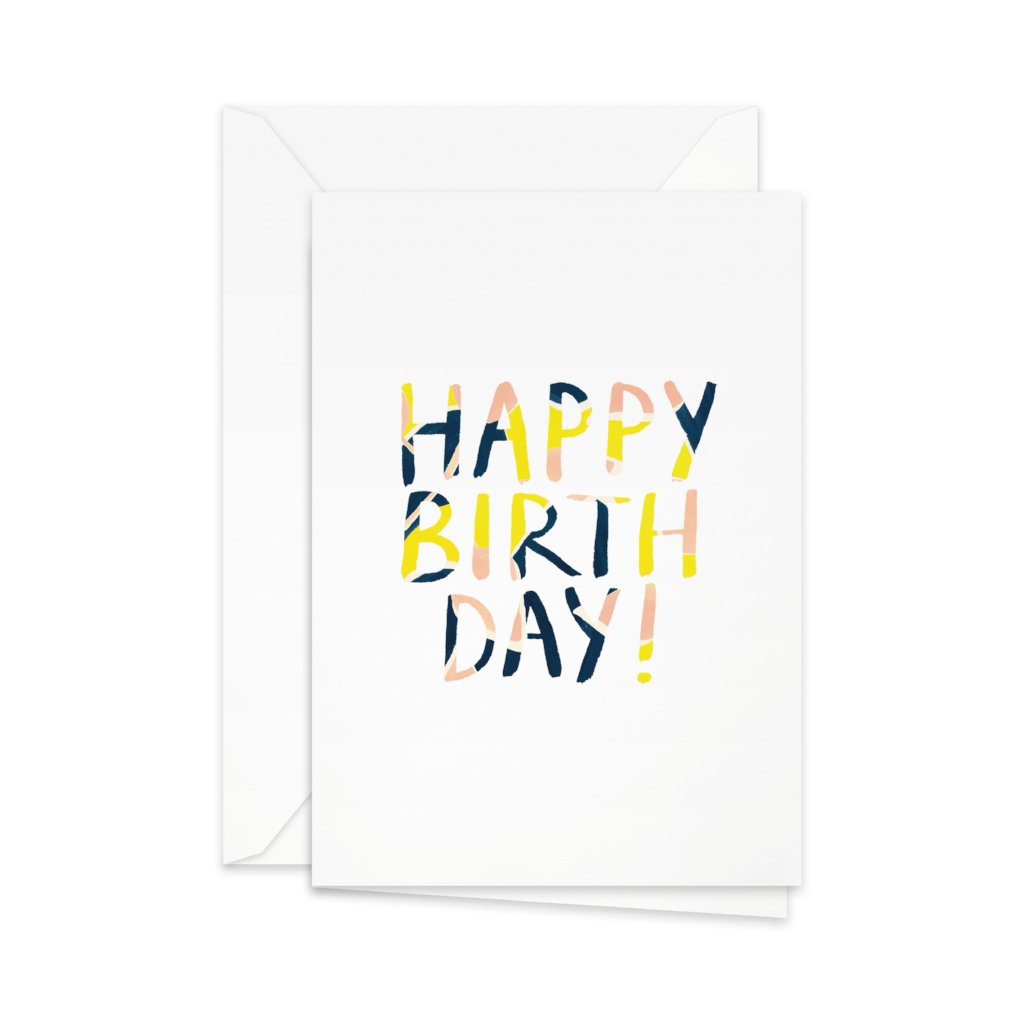 Pretty Paper - kort, 'Happy Birthday'