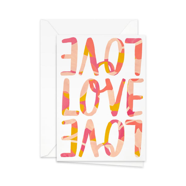 Pretty Paper - kort, 'LoveLoveLove'