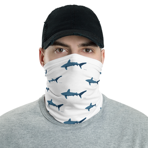 Blue Oceanic Whitetip Shark Neck Gaiter