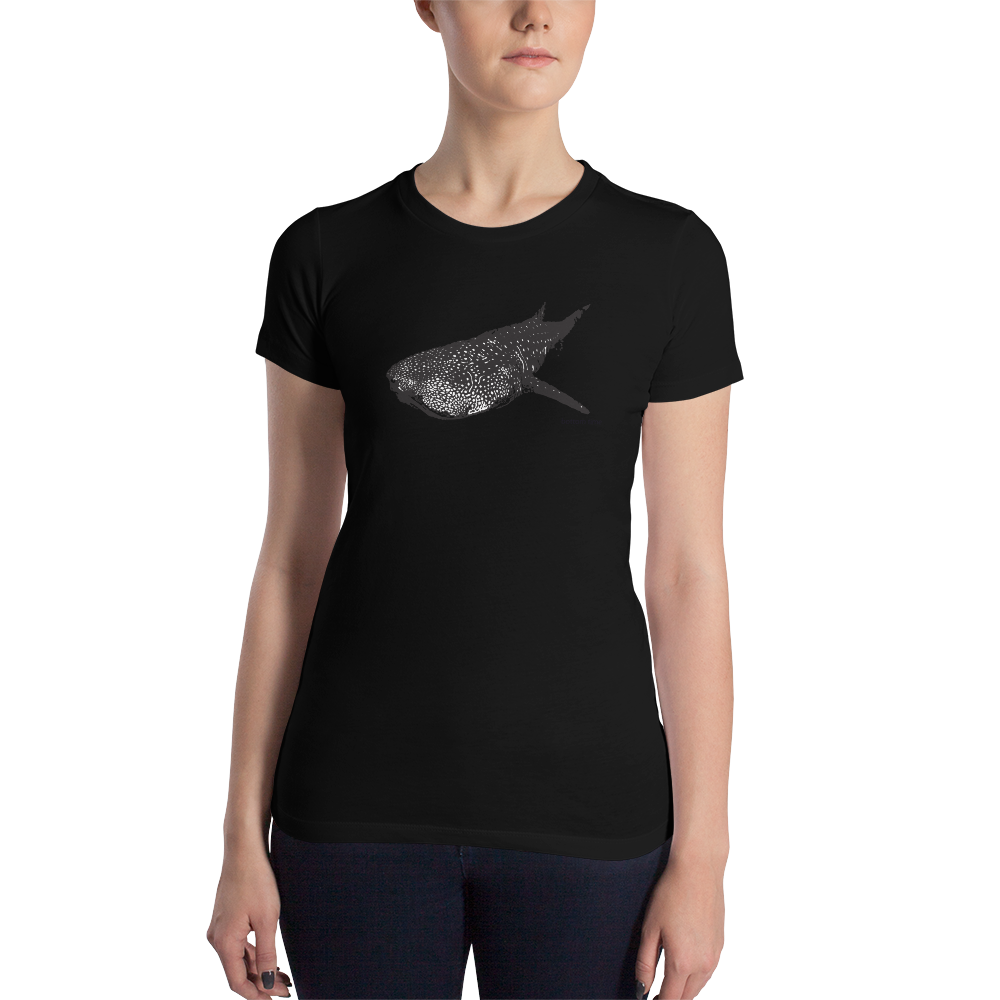 Women's Black Whale Shark T-Shirt