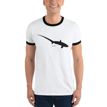 Load image into Gallery viewer, Thresher Shark Ringer T-Shirt
