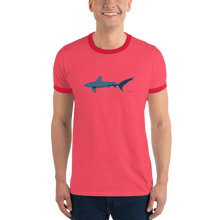 Load image into Gallery viewer, Blue Longimanus Ringer T-Shirt