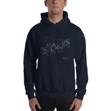 Load image into Gallery viewer, Giannoula K. Hoodie (white print)